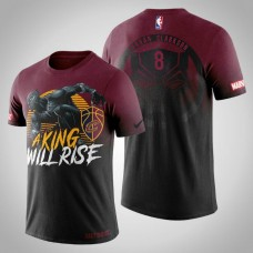 Cleveland Cavaliers #8 Jordan Clarkson Red Marvel T-Shirt