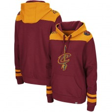 Cavaliers Triple Double Pullover Hoodie - Wine Gold