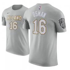 Cleveland Cavaliers #16 Cedi Osman Gray City T-Shirt