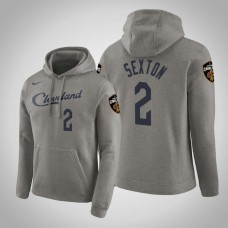 Cleveland Cavaliers #2 Collin Sexton Gray Earned Hoodie