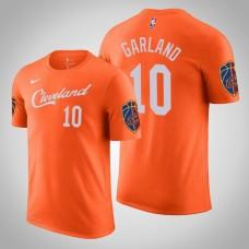 Darius Garland Cleveland Cavaliers #10 City Orange Name & Number T-Shirt