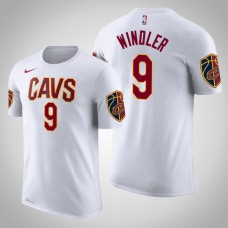 Dylan Windler Cleveland Cavaliers #9 Association White Name & Number T-Shirt