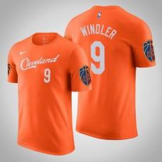 Dylan Windler Cleveland Cavaliers #9 City Orange Name & Number T-Shirt