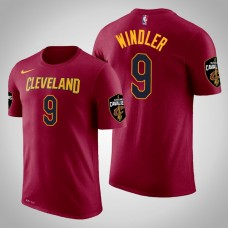 Dylan Windler Cleveland Cavaliers #9 Icon Maroon Name & Number T-Shirt