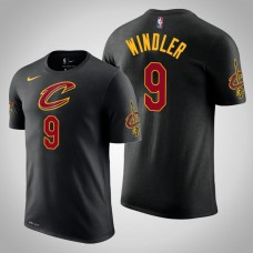 Dylan Windler Cleveland Cavaliers #9 Statement Black Name & Number T-Shirt