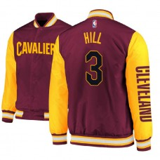 Cleveland Cavaliers #3 George Hill Satin Full Snap Jacket