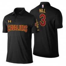George Hill Cavaliers #3 Statement Black Performance Polo