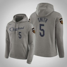J.R. Smith Cavaliers #5 Gray Earned Hoodie