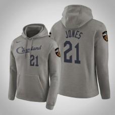 Cleveland Cavaliers #21 Jalen Jones Gray Earned Hoodie