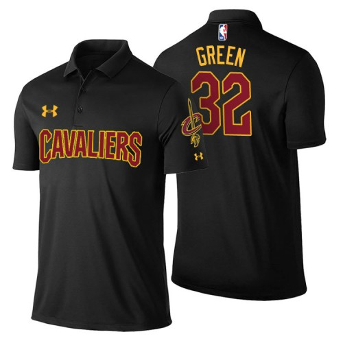 Cleveland Cavaliers #32 Jeff Green Black Statement Polo