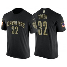 Cleveland Cavaliers #32 Jeff Green Camo Name & Number T-Shirt