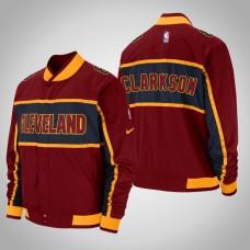 Cleveland Cavaliers #8 Jordan Clarkson Maroon Courtside Icon Jacket