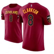 Cleveland Cavaliers #8 Jordan Clarkson Wine Icon T-Shirt