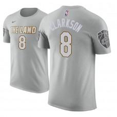 Cleveland Cavaliers #8 Jordan Clarkson Gray City T-Shirt