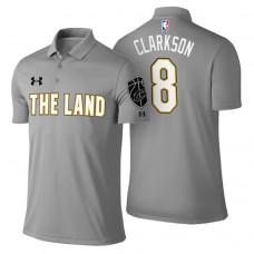 Cleveland Cavaliers #8 Jordan Clarkson Gray City Polo