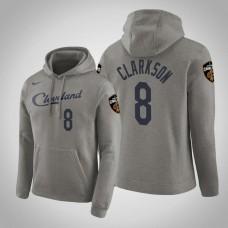 Cleveland Cavaliers #8 Jordan Clarkson Gray Earned Hoodie