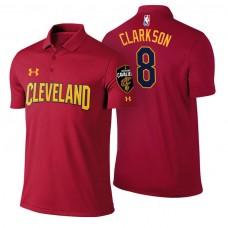 Cleveland Cavaliers #8 Jordan Clarkson Maroon Icon Polo