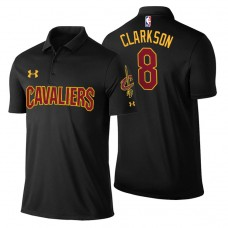 Cleveland Cavaliers #8 Jordan Clarkson Black Statement Polo