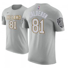 Jose Calderon Cavaliers #81 City Edition Gray T-Shirt