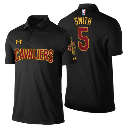 Cleveland Cavaliers #5 JR Smith Black Statement Polo