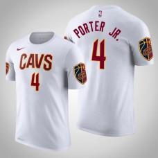 Kevin Porter Jr. Cleveland Cavaliers #4 Association White Name & Number T-Shirt
