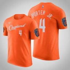 Kevin Porter Jr. Cleveland Cavaliers #4 City Orange Name & Number T-Shirt