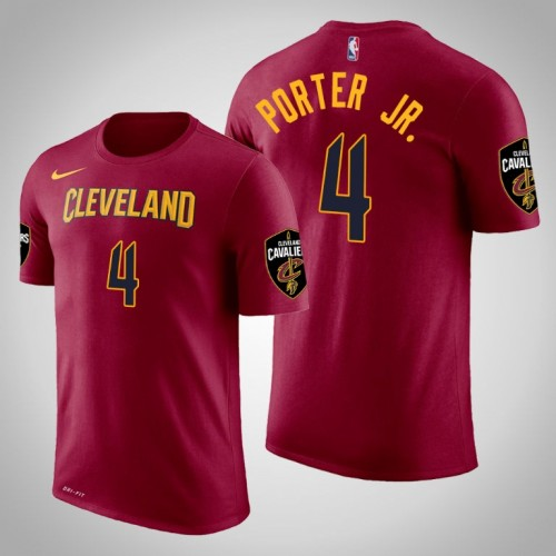 Kevin Porter Jr Cleveland Cavaliers 4 Icon Maroon Name Number T Shirt