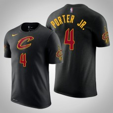 Kevin Porter Jr. Cleveland Cavaliers #4 Statement Black Name & Number T-Shirt