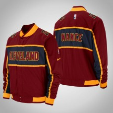 Cleveland Cavaliers #22 Larry Nance Maroon Courtside Icon Jacket