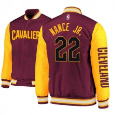 Cleveland Cavaliers #22 Larry Nance Jr. Satin Full Snap Jacket