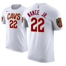 Cleveland Cavaliers #22 Larry Nance Jr. White Association T-Shirt