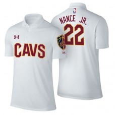 Cleveland Cavaliers #22 Larry Nance Jr. White Association Polo