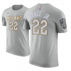 Cleveland Cavaliers #22 Larry Nance Jr. Gray City T-Shirt