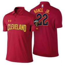 Cleveland Cavaliers #22 Larry Nance Jr. Maroon Icon Polo