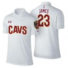 LeBron James Cavaliers #23 Association White Performance Polo