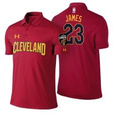 LeBron James Cavaliers #23 Icon Edition Maroon Performance Polo