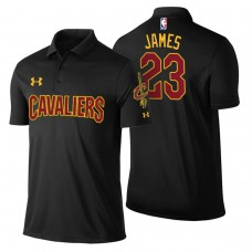 LeBron James Cavaliers #23 Statement Black Performance Polo