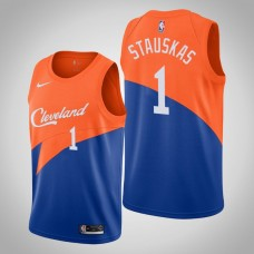 Cleveland Cavaliers #1 Nik Stauskas Blue City Jersey
