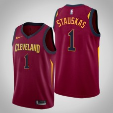 Cleveland Cavaliers #1 Nik Stauskas Maroon Icon Jersey