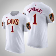 Cleveland Cavaliers #1 Nik Stauskas White Association T-Shirt