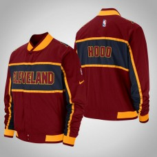 Cleveland Cavaliers #1 Rodney Hood Maroon Courtside Icon Jacket