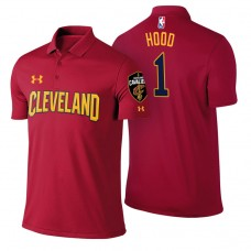 Cleveland Cavaliers #1 Rodney Hood Maroon Icon Polo