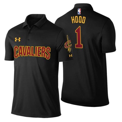 Cleveland Cavaliers #1 Rodney Hood Black Statement Polo