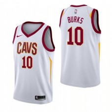 Cleveland Cavaliers #10 Alec Burks White Association Jersey