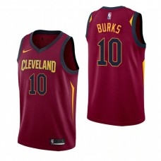 Cleveland Cavaliers #10 Alec Burks Maroon Icon Jersey