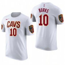 Cleveland Cavaliers #10 Alec Burks White Association T-Shirt
