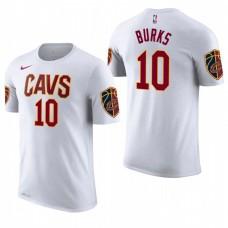 Cleveland Cavaliers #10 Alec Burks White Association T-Shirt