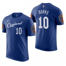 Alec Burks Cavaliers City Edition Blue T-Shirt