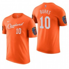 Cleveland Cavaliers #10 Alec Burks Orange City T-Shirt