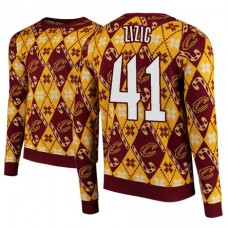Cleveland Cavaliers #41 Ante Zizic 2018 Christmas Sweater